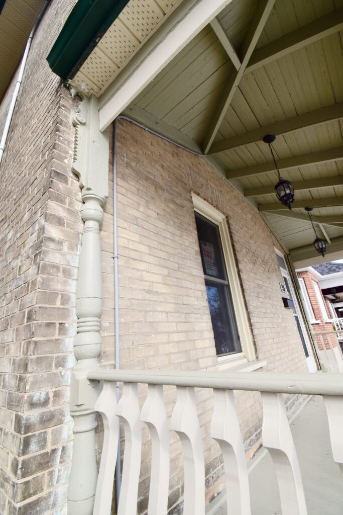 New Listing for Ken Pipher Realty. 35 Dennistoun, front porch