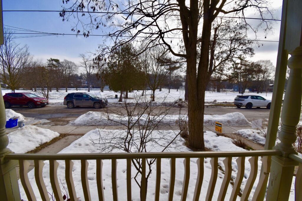 New Listing for Ken Pipher Realty. 35 Dennistoun. View from the porch